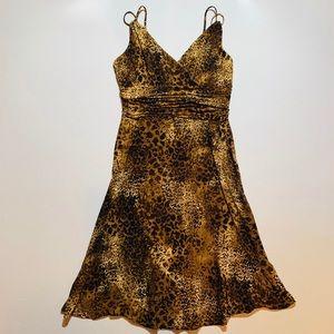 Evan Picone animal print dress